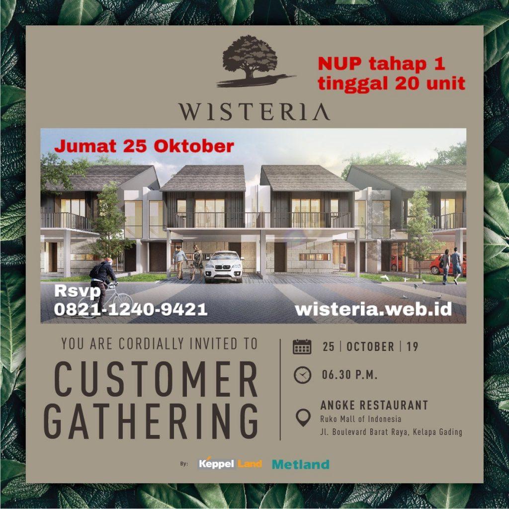 investor gathering wisteria cakung