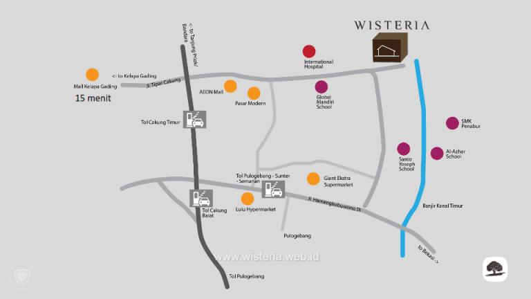 Lokasi Wisteria Cakung